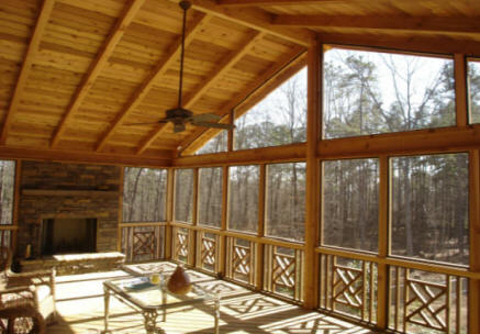 Screened porches re screen repair rooms patios concord nc screened in