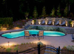 Charlotte landscape lighting we do it all low cost deck why only enjoy your beautiful landscaping during the day dp and associates lighting department can bring your landscape to life at night aloadofball Images