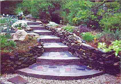 Wall stone steps in walk.jpg (49759 bytes)